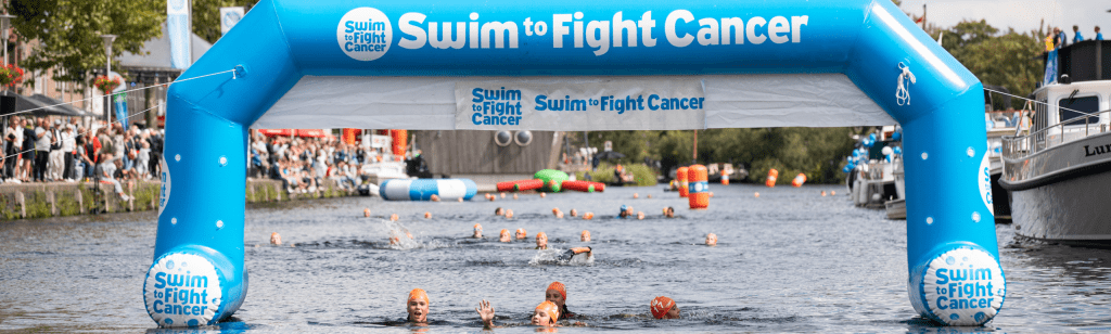 Swim to Fight Cancer banner - 2020